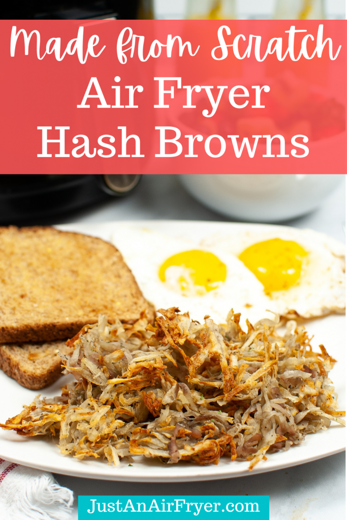 Title image for Made from Scratch Air Fryer Hash Browns